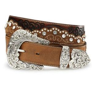 Tony Lama Crystal Kaitlyn Leather Belt sz 30